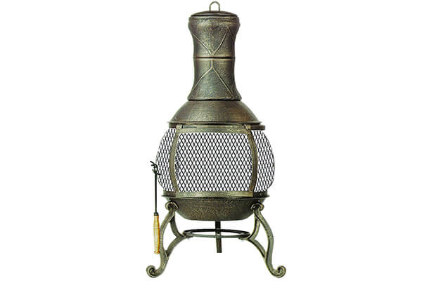 Deckmate Corona Outdoor Chimenea Fireplace Model 30075