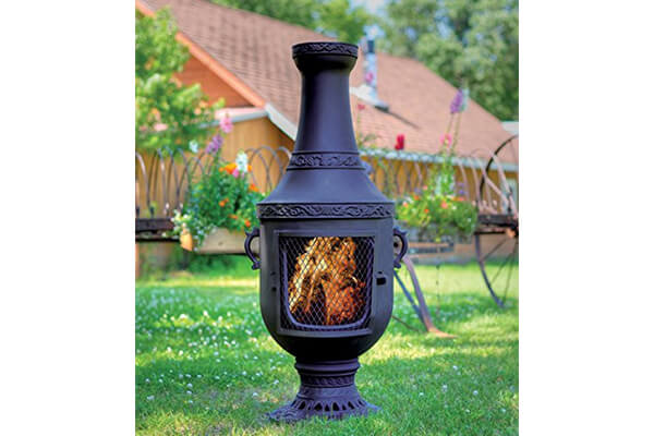 The Blue Rooster Venetian Chiminea - Charcoal - Aluminum