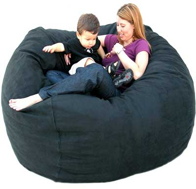 5. Cozy Sack 5-Feet Bean Bag Chair, Large, Black