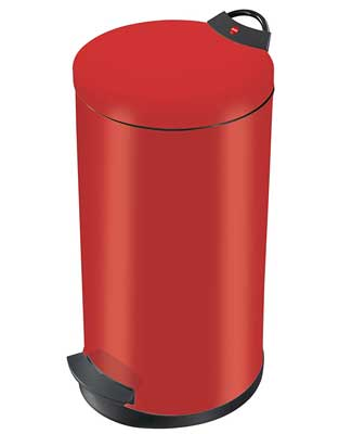 Best Trash Can for home - Hailo Red Waste Bin