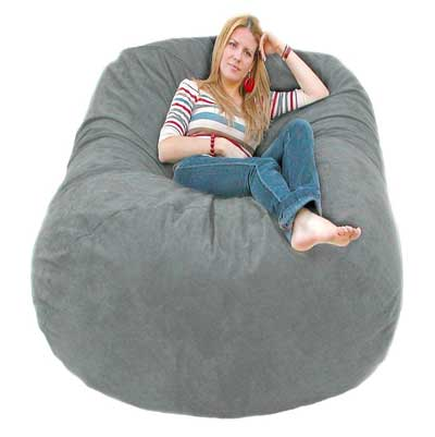 4. Cozy Sack 6-Feet Bean Bag Chair, Large, Grey