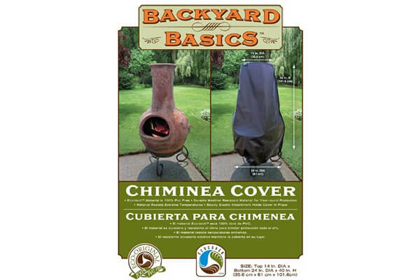 Backyard Basics Chimnea Cover, Black