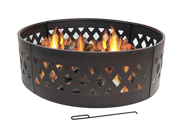 Sunnydaze Heavy Duty Crossweave Campfire Ring