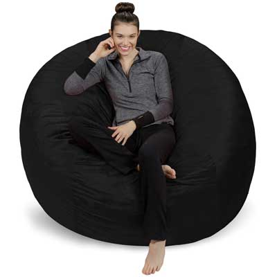 1. Sofa Sack - Bean Bags 6-Feet Bean Bag, Giant, Black.