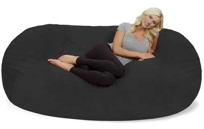 8. Chill Sack Memory Foam Bean Bag Loungers, Dark Grey Pebble.