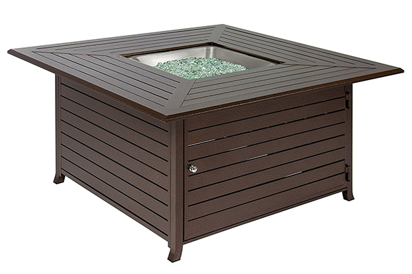 est Choice Products BCP Extruded Aluminum Gas Outdoor Fire Pit Table With Cover