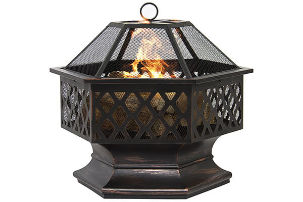 Best Choice Products BCP Hex Shaped Fire Pit