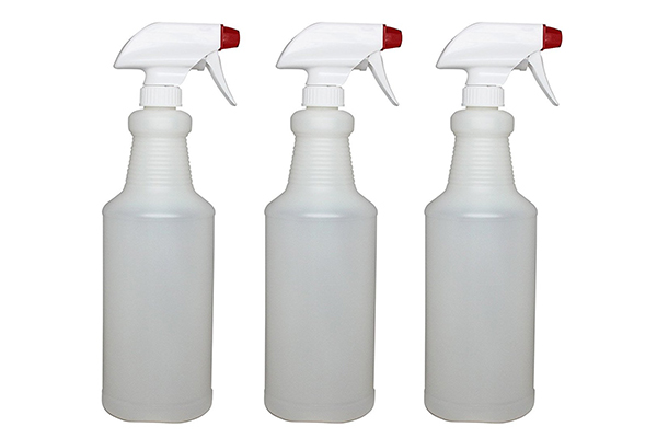 Plastic Spray Bottles Leak Proof Technology Empty 32 oz Pack of 3 Made In USA By Pinnacle Mercantile