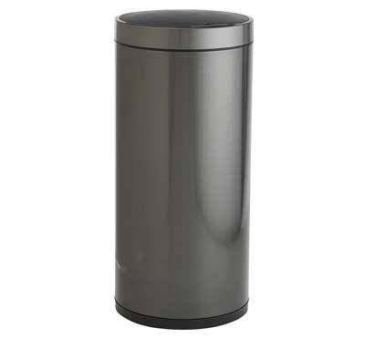 8. EKO Stainless Steel Round Hands Free Sensor Trash Can
