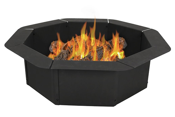 Sunnydaze Octagon Heavy-Duty Steel Fire Pit