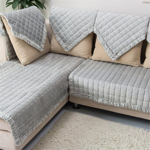 OstepDecor Multi-size Pet Dog Couch Rectangular Winter Quilted Furniture Protectors Covers for Sofa-Sofa Covers