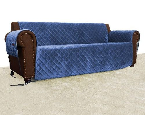 Quilted Velvet Pet Sofa Cover, Water Resistant Couch Furniture Cover