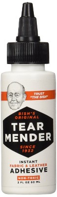 Tear Mender Bish's Original Tear Mender Instant Fabric and Leather Adhesive, 2 Oz. Bottle, TG-2