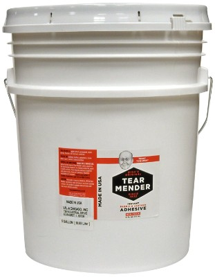 Tear Mender Bish's Original Instant Fabric and Leather Adhesive, 5 Gallon Container, TG-640