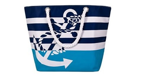 10. ​Sornean Oversized Waterproof Beach Tote Bag Market Shopping Bag Grocery Bag With Cotton Rope Handle