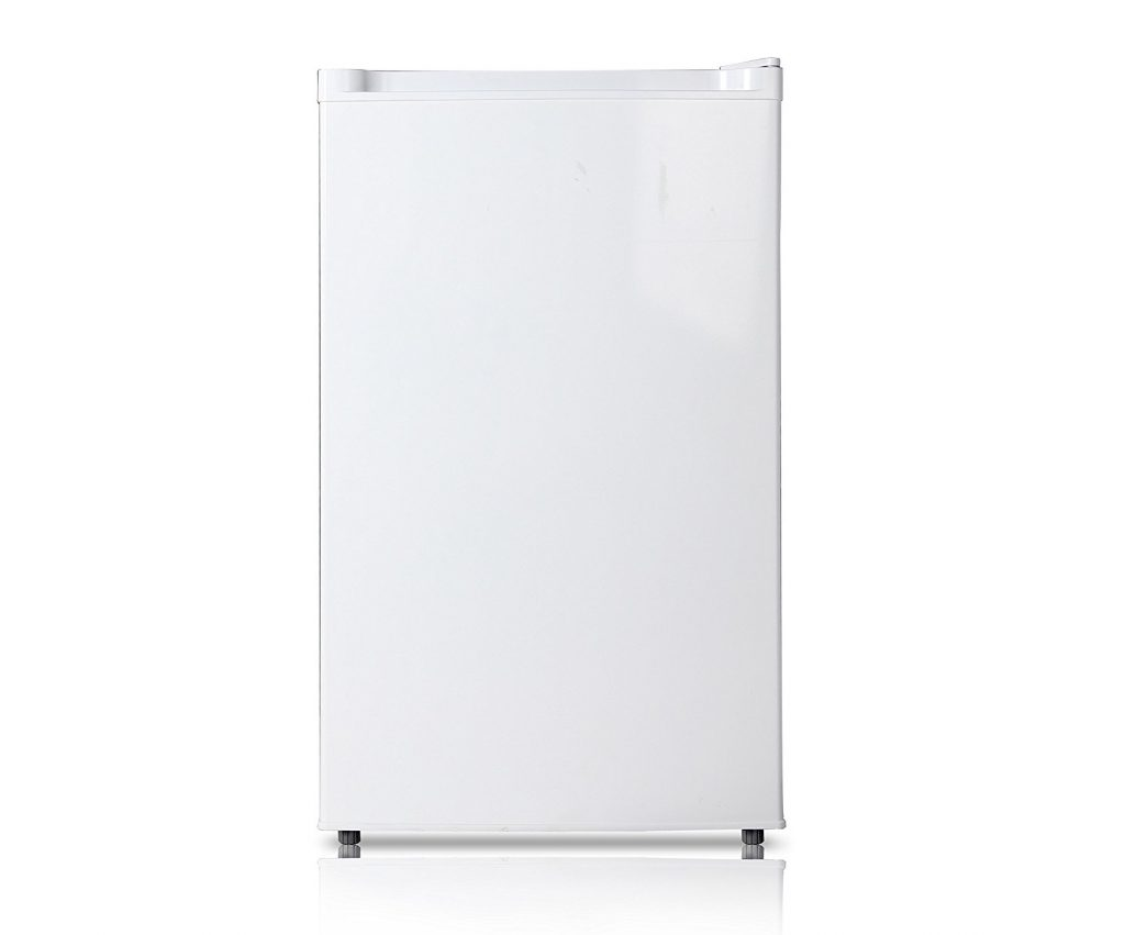 2. Midea WHS-109FW1 Compact Single Reversible Door Upright Freezer, 3.0 Cubic Feet, White