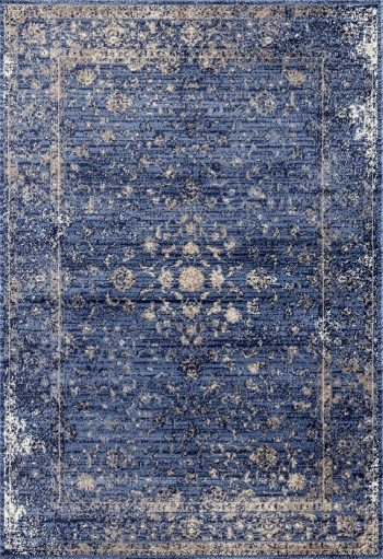 2817 Distressed Blue 8 x 10 Area Rug Carpet Large New