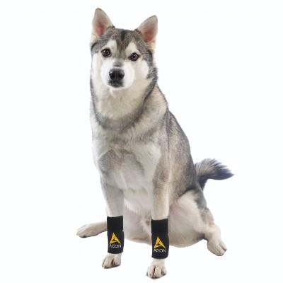 (PAIR) Agon Dog Canine Front Leg Brace Paw Compression Wraps with Protects Wounds Brace