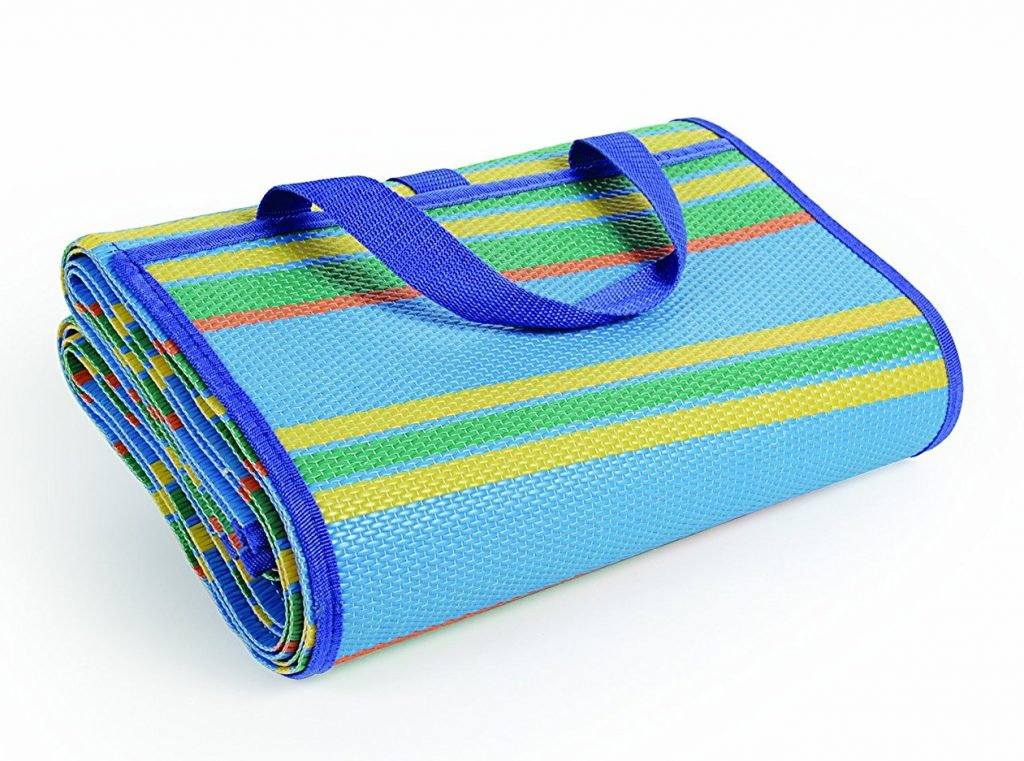 3. Camco Striped Handy Mat with Strap