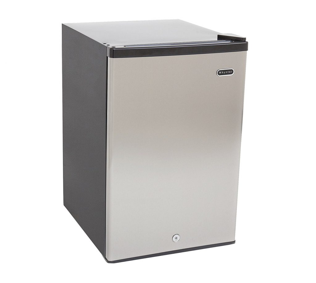 3. Whynter CUF-210SS Energy Star Upright Freezer, 2.1 Cubic Feet