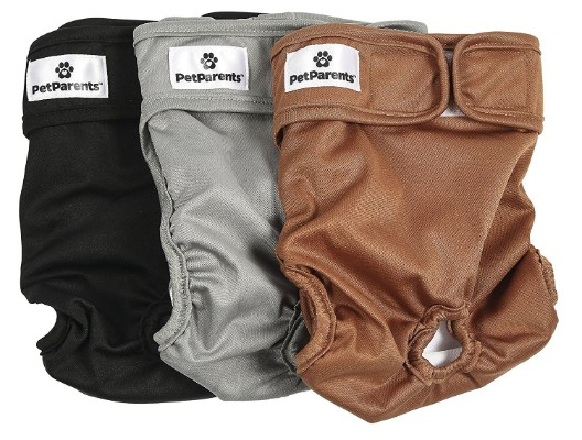 Pet Parents Premium Washable Dog Diapers (3pack) of Doggie Diapers, Both Female _ Male