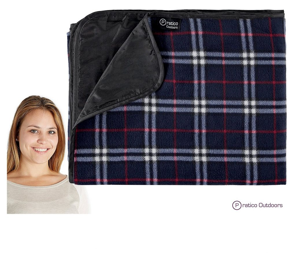 4. Extra Large Picnic & Outdoor Blanket with Water-Resistant Backing