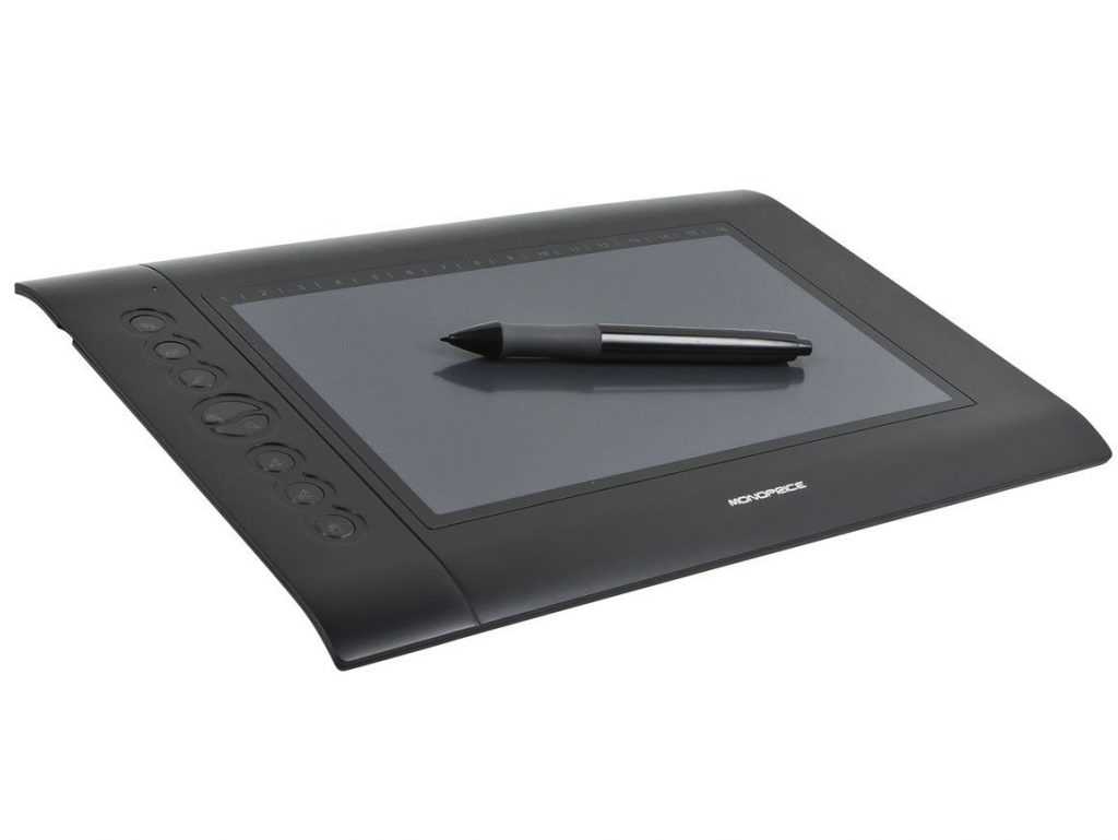 4. Monoprice 10 x 6.25-inch Graphic Drawing Tablet (4000 LPI, 200 RPS, 2048 Levels)