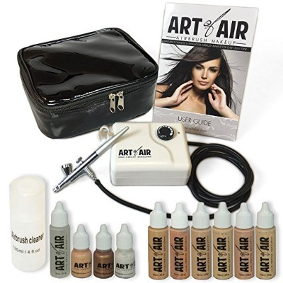 Art of Air Professional Airbrush Cosmetic Makeup System : Fair to Medium Shades 6pc