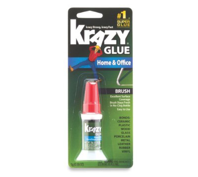 Krazy Glue Home & Office Brush On Super Glue, Brush Applicator