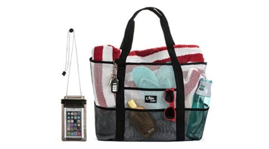 5. Aloha Sugar Beach Bag - Mesh Beach Bag and Beach Tote Bag