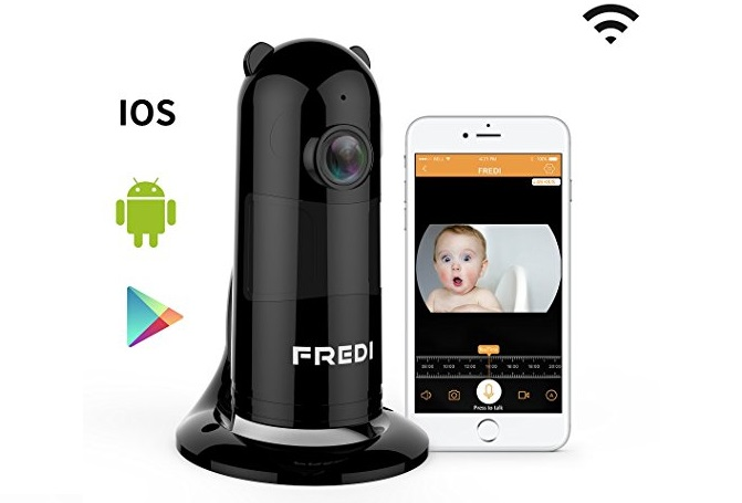5. FREDI Baby Monitor Wireless WIFI IP Surveillance Camera 1080P HD Security Camera With Two-Way Talking,Infrared Night Vision,P2P Wps Ir-Cut Nanny Camera Motion Detection Loop recording(Without SD Card)