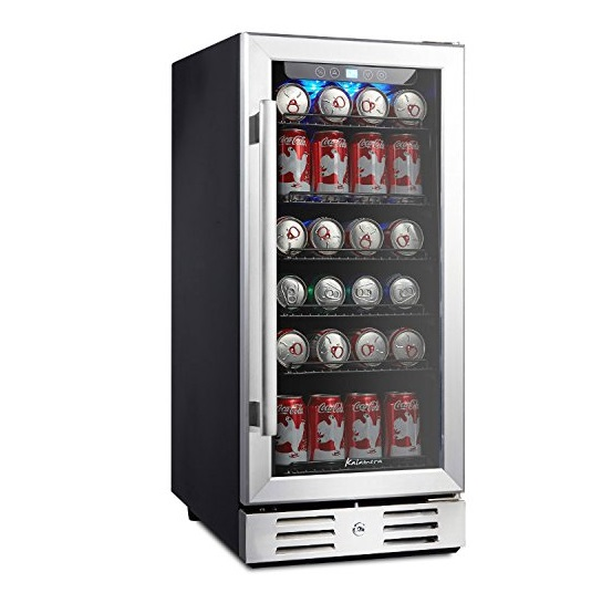 5. Kalamera Beverage cooler 96 can built-in Single Zone Touch Control