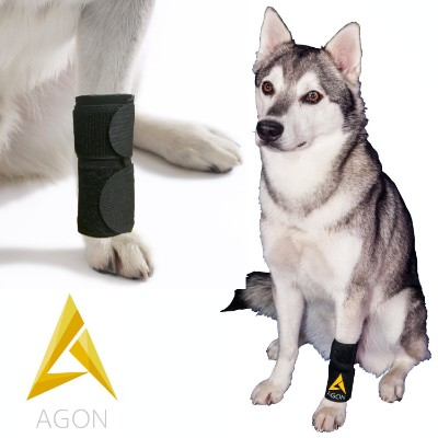 Agon Dog Canine Front Leg Brace Paw Compression Wraps with Protects Wounds Brace Heals