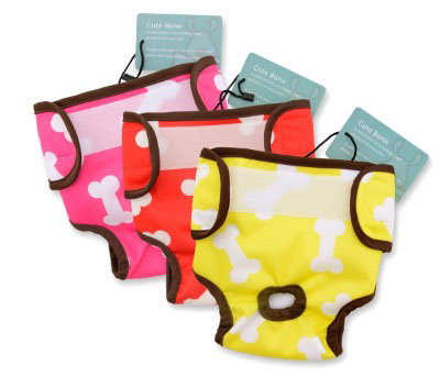 CuteBone 3 PCS Dog Diapers Female Washable Durable Doggie Diapers for Large_Small Dogs Xmas