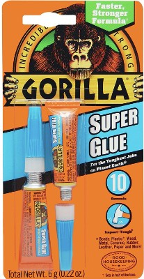 Gorilla Super Glue, 6 g, Clear