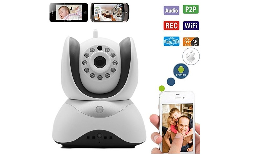6. The Best HD Video Baby Monitor Wifi Surveillance Camera 2 Way Audio, Infrared Night Vision! Be Connected to Your Love Ones & Keep Your Family Secure (White)