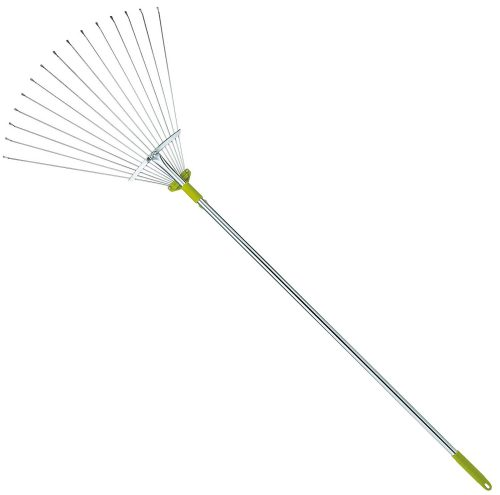 63 Inch Adjustable Garden Leaf Rake - Expanding Metal Rake