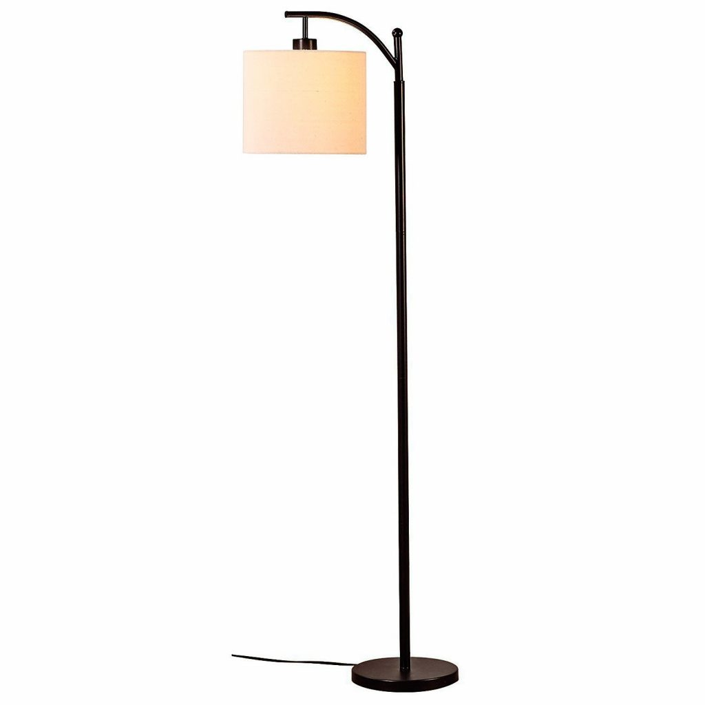 7. Brightech Montage LED Floor Lamp- Classic Arc Floor Lamp with Hanging Lamp Shade - Tall Industrial Uplight Lamp for Living Room, Family Room, Office or Bedroom, Energy Saving and Long Lasting- Black