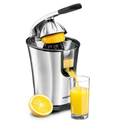 Gourmia EPJ100 Electric Citrus Juicer Stainless Steel 10 QT 160 Watts Rubber Handle and Cone Lid