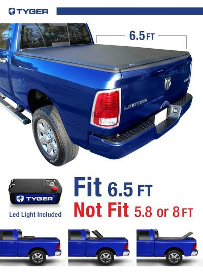 8. Tyger Auto TG-BC3D1011 TRI-FOLD Truck Bed Cover