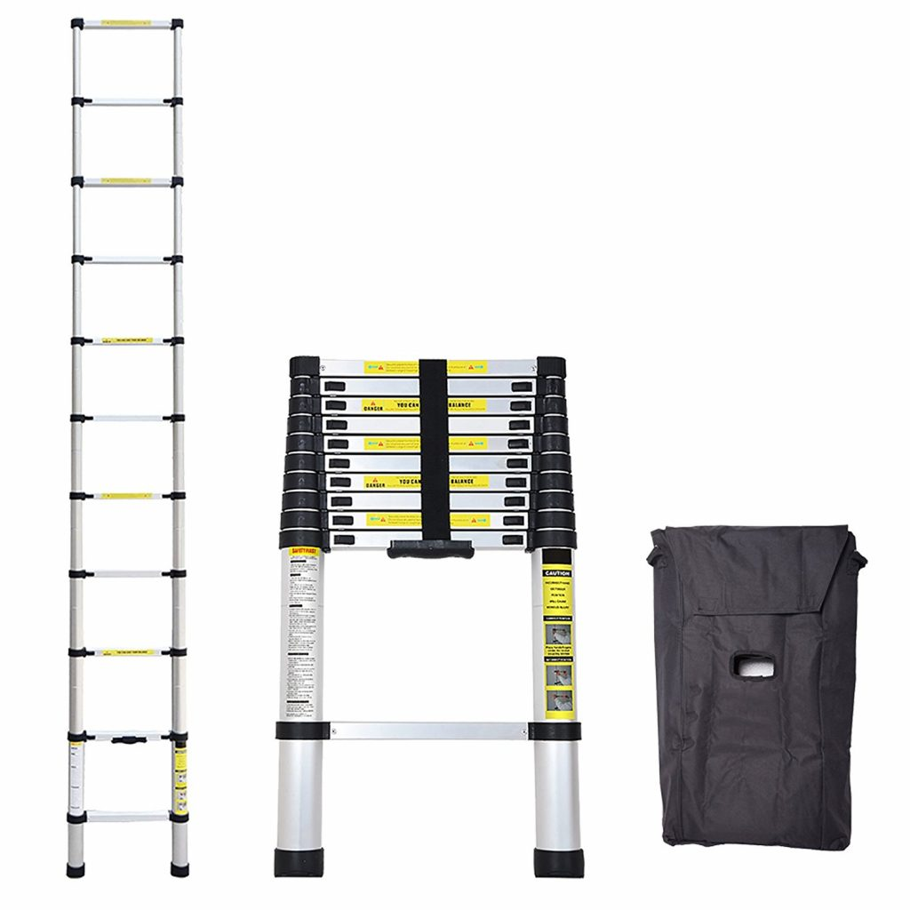 8. Idealchoiceproduct 10.5 FT Aluminium Telescopic Telescoping Ladder Extension Steps
