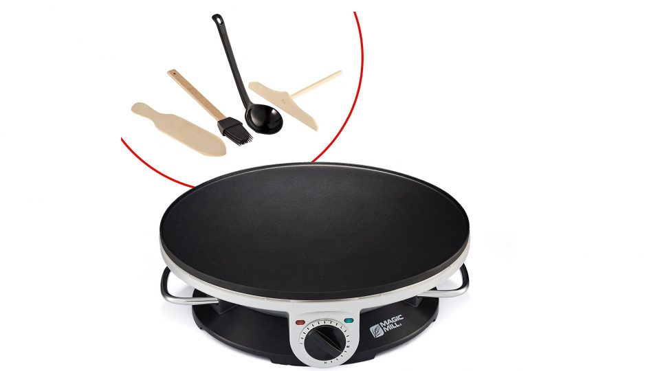 8. Magic Mill Professional Electric Crepe Maker & Griddle, Non-stick Cooking Plate