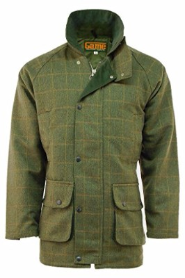 Mens Derby Tweed Shooting Hunting Jacket