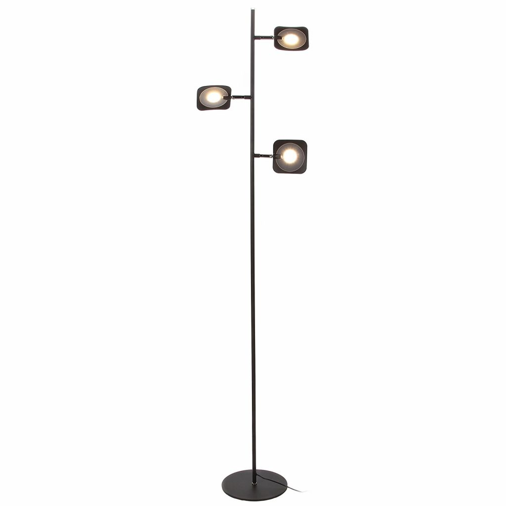 9. Brightech Tree LED Floor Lamp - Classic Adjustable 3 Light Floor Lamp with 3-Step Dimmable Touch Switch - Advanced LED Technology featuring 23 Energy Efficient Watts with 1900 Lumens - Bronze