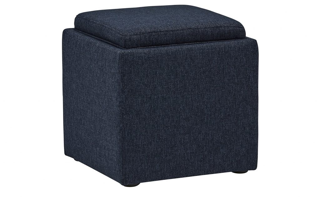 9. Rivet Ross Tweed Modern Lift-Top Storage Ottoman