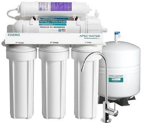 APEC Top Tier Alkaline Mineral pH+ 75 GPD 6-Stage Ultra Safe Reverse Osmosis Drinking Water Filter System