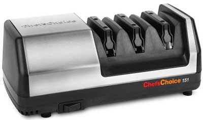 3. Chef's Choice Model 151 Stainless Steel Electric Knife Sharpener