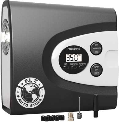 9. 12V DC Tire Inflator Air Compressor Pump by P.I. Auto Store