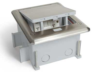 1. Lew OB-1-SP Stainless Steel Push Button Open Outdoor Floor Box