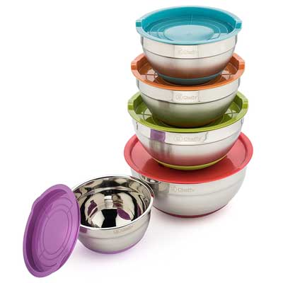 3. Cheffy Stainless Steel Mixing Bowls